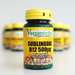 vitamine B12 vegan sublingual 500ug veganicity