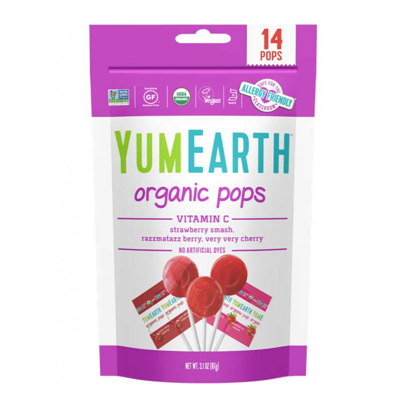 Sucettes yumearth fruits rouges