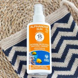 spray solaire alphanova spf 15