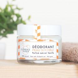 Clémence et Vivien - déodorant crème peau sensible - vanille