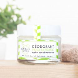 Clémence et Vivien - déodorant crème peau sensible - mandarine