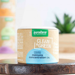 mémoire concentration clean & green purasana