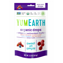 Bonbons Vegan et Bio - Grenade Fraise Myrtille & Cerise  - YUMEARTH