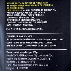 mozzarella râpée violife 200g valeurs nutritionnelles