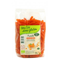Fusilli Sans Gluten Bio - Lentilles Corail - MA VIE SANS GLUTEN