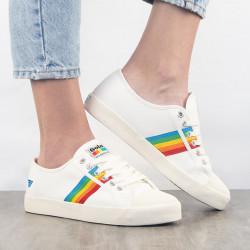 Gola vegan - Coaster Rainbow Off White Multi