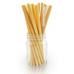50 pailles bambou 22cm