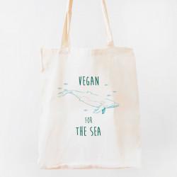 tote bag bio vegan for the sea