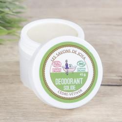 déodorant solide cèdre vétiver joya