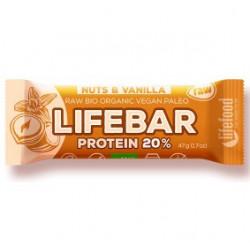 lifebar protein vanille noix