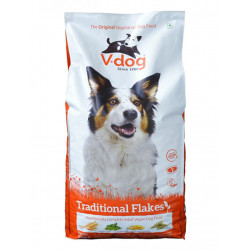 traditional flakes v-dog croquettes pour chien