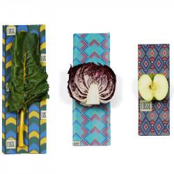 emballage alimentaire réutilisable cosse nature graphique