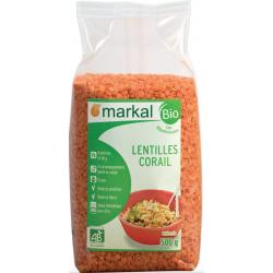 Lentilles Corail bio MARKAL - 500g