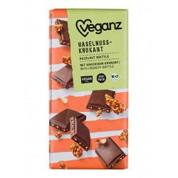 tablette chocolat noisettes caramélisées Veganz