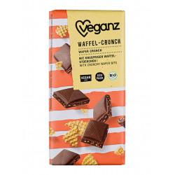 tablette chocolat croquant gaufre Veganz