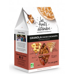 Les fruits détendus granola cacao cacahuète