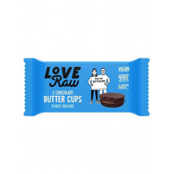 LoveRaw butter cups brownie cacahuète