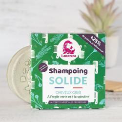 shampoing  cheveux gras Lamazuna spiruline argile