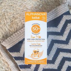 Alphanova lait solaire Bébé spf 50+