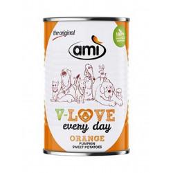 pâté pour chien Ami V Love every day orange