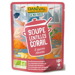 Soupe Bio - Lentilles Corail & Épices - Danival - 50cl