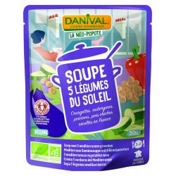 Soupe Bio - 5 légumes du soleil - Danival - 50cl