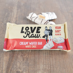 white choc cream wafer bar Love Raw
