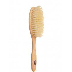 Kostkamm brosse à cheveux vegan ovale - sisal et hetre - 6 rangées
