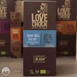 lovechock - tablette chocolat vegan fèves et sel marin