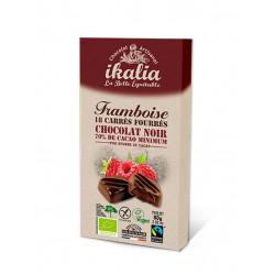 carrés chocolat noir framboise Ikalia