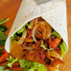 Roots Vegan Food seitan kebab