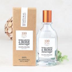100Bon parfum bergamote rose sauvage