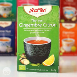 yogi tea - thé vert gingembre citron
