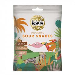 BIONA - bonbons vegan serpents acidulés