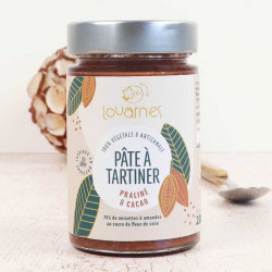 pate à tartiner Louarnes praliné et cacao