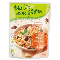 Céréales cuisinées Quinoa-Millet Haricots Rouges & Petits Légumes