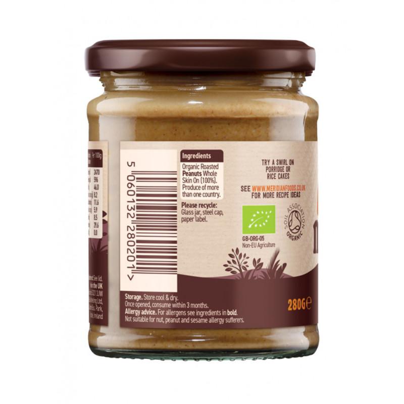 beurre de cacahuetes smooth bio Meridian